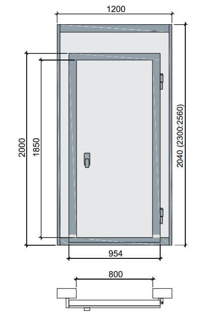 Дверные блоки для холодильных камер POLAIR