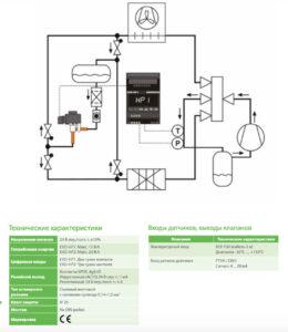 Автономный контроллер перегрева/экономайзера EXD-HP1/2