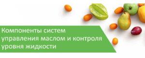 Компоненты систем управления маслом и контроля уровня жидкости